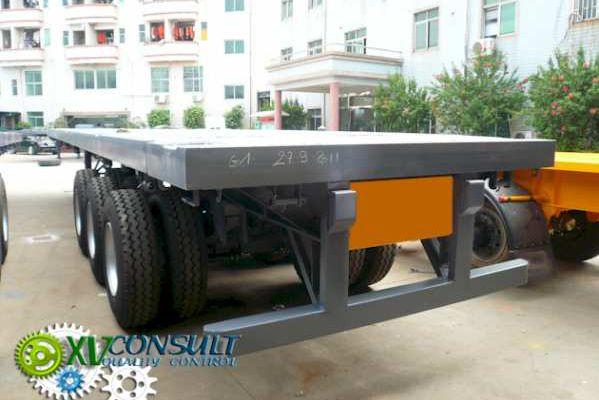 "1 / Fabrication -Controle Qualite - Expedition - Semi Remorques Porte Containers 40 "" Flatbed - Chine - Semi Trailers Flatbed - نصف مقطورات مسطحة الصين"