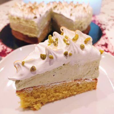 Gâteau Nuage de Pistaches pour la Saint-Valentin