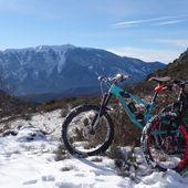 Belle rando dans la neige au départ de Buis-les-Baronnies (26) (parcours n°4 noir) le 9/01/2021 - VTT a 2