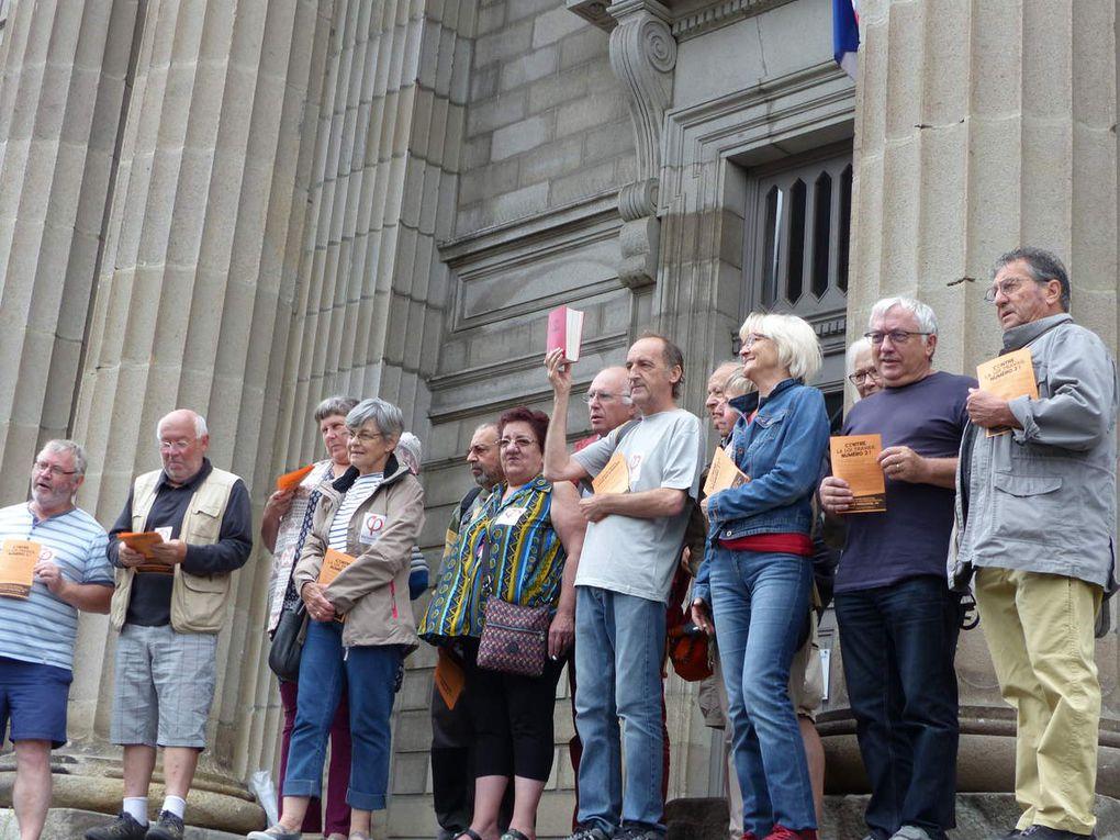 FI Cantal : Diverses manifestations, distribution de tracts, repas festif et visite de Martine Billard