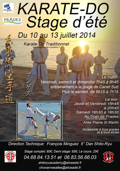 Stage d'été - Karate-Do Shito-Ryu