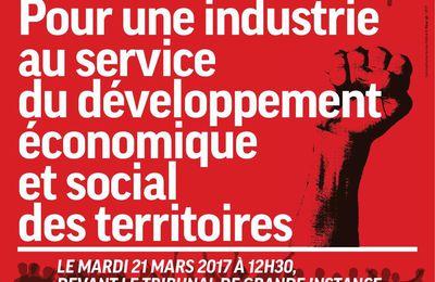 Le 21 mars: RDV à 12H30 devant le Tribunal de grande instance de Lille