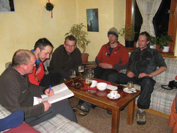 Photos du stage du mois de janvier à Cogne avec Dieter, Kevin, Dierter2, Armand, Bart.