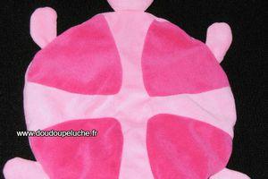 Doudou peluche tortue rose Vertbaudet