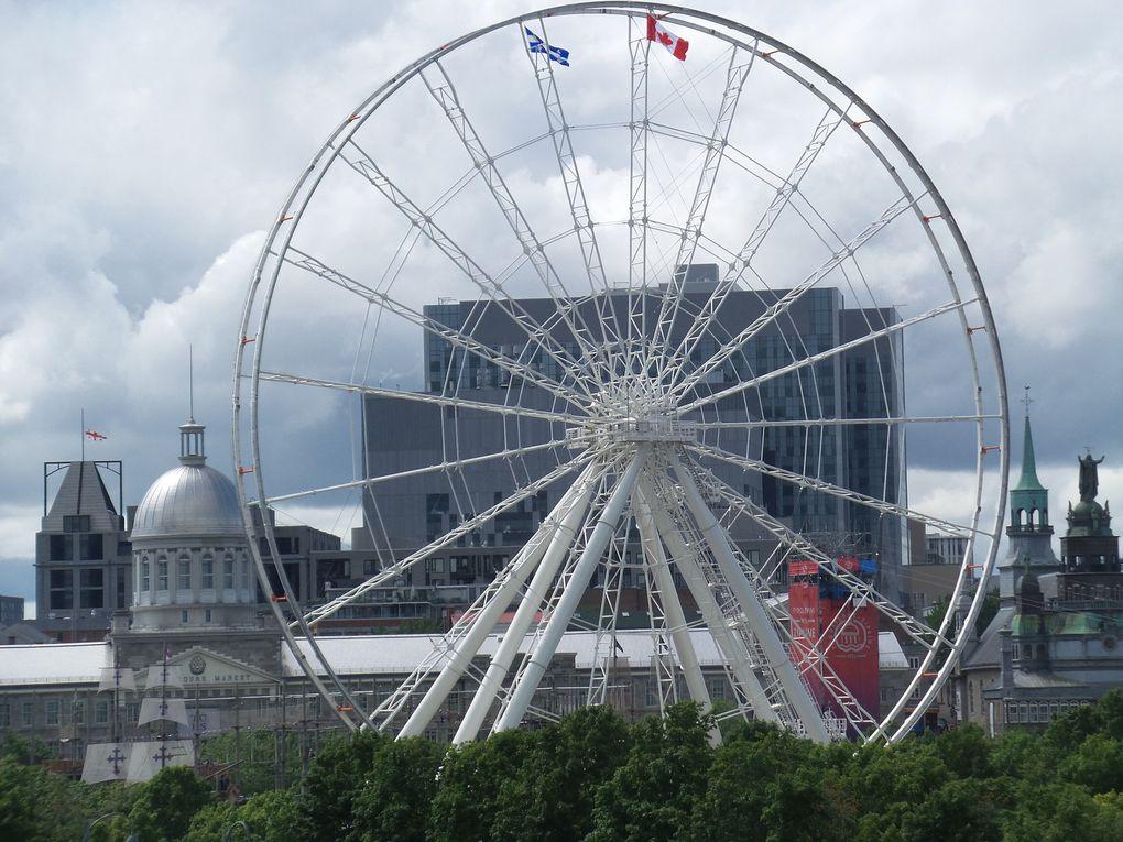 Montréal, le vieux port, le pont Jacques-Cartier, etc.