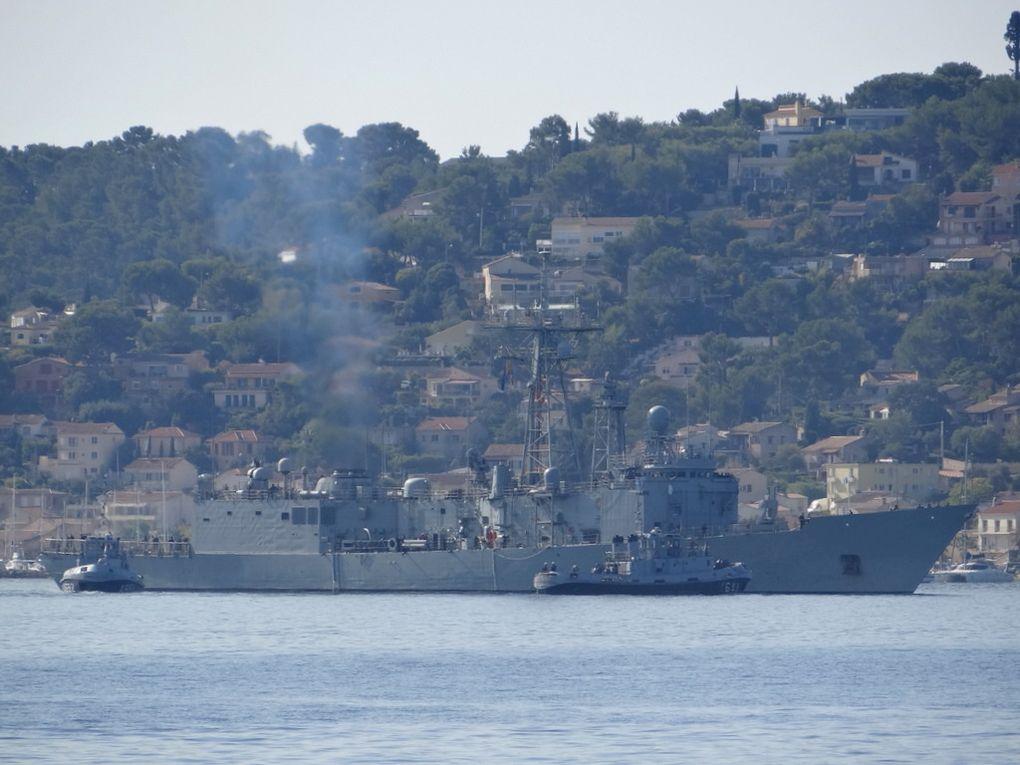 NUMANCIA  F83 , frégate de la marine espagnole arrivant à Toulon le 26 septembre 2017