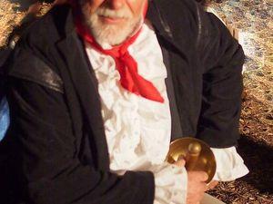 """Robert C, référent équipe décors, """"patron pêcheur"""" - Didier L, référent des Marins, """"armateur marseillais"""" -  Sandrine M dite """"Nine, femme du patron pêcheur"""", Daniel P, Maître d'arme"""
