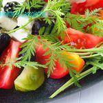 Salade de Tomates à la Feta et à la Roquette