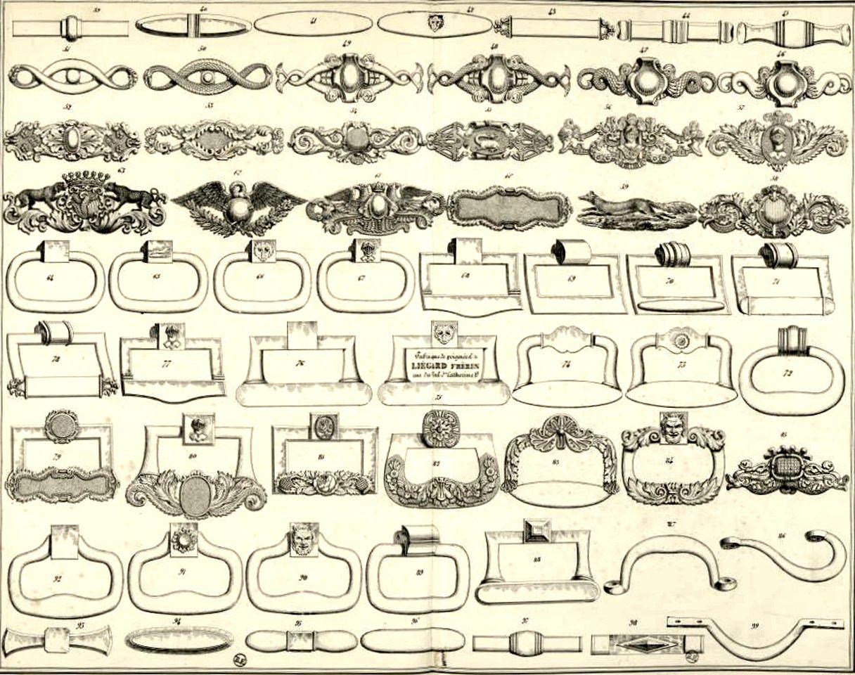 """Catalogue 1840 Liégard: ou l'émergence des fabriques de fournitures """"standardisées"""" pour sellerie et carrosserie."""