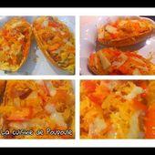 Courge spaghetti au chorizo et au poivron rouge - La cuisine de poupoule