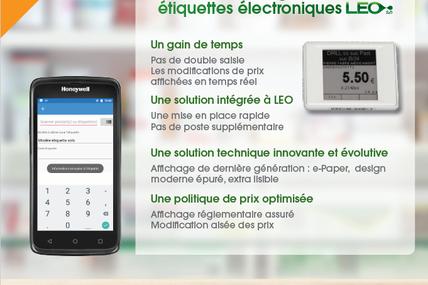 Affichez vos prix en toute modernité grâce aux étiquettes électroniques LEO