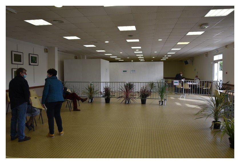 Réville, centre éphémère de vaccination