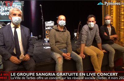 La Télé de Tarbes :: Sangria Gratuite bientôt en concert live pour l'apéro (4 mars 21)