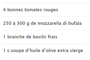 Recette du mois: tomate mozzarella