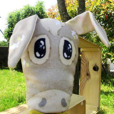 Gus, un âne un peu timide