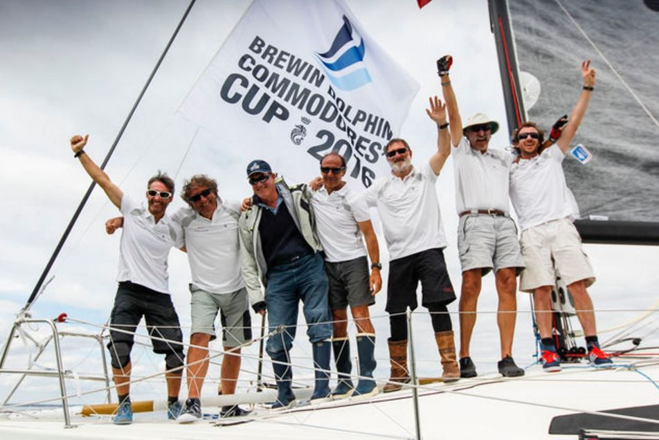Photo race : Rorc Paul Wyeth - Daniel Andrieu and Eric Stromberg, manager of sail activity at Jeanneau Shipyard : photo : N. Venance