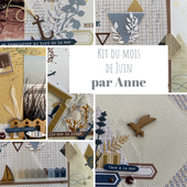 KIT202006 : KIT ALBUM JUIN 2020 PAR ANNE fee du scrap