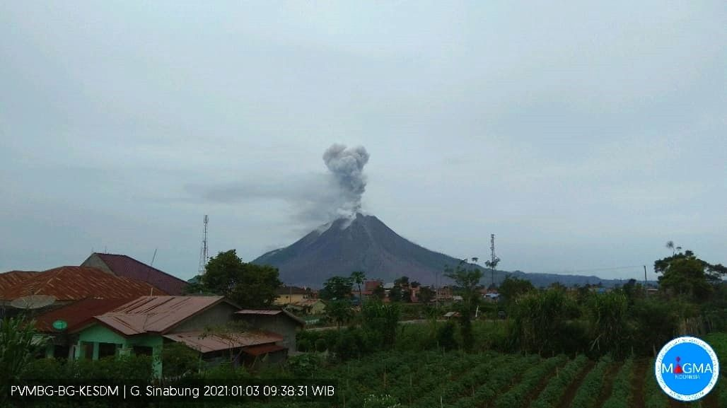 Sinabung - 03.01.2021 / 09h38 WIB - webcam PVMBG-Magma Indonesia