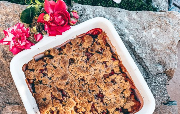 Crumble Rhubarbe & Fruits rouges