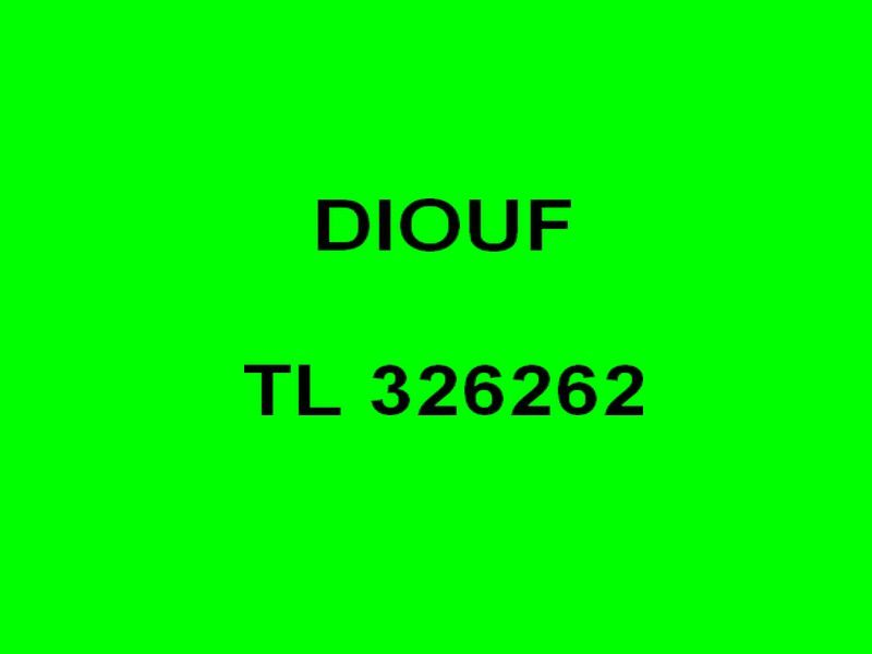 DIOUF  TL 326262