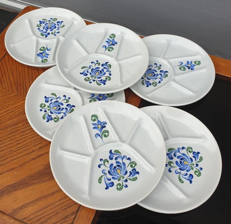 Set 6 assiettes fondue modèle Fribourg de Saint Amand - 20 euros
