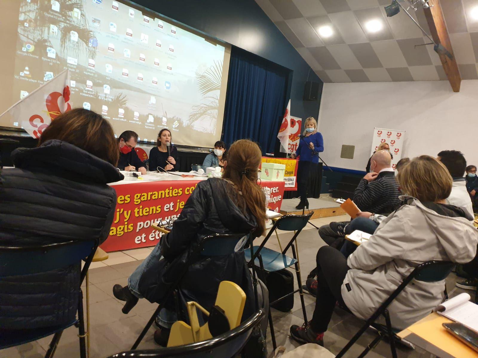 6 ème Congrès de l'Union Fédérale de la Santé Privée, la CGT Korian en force!