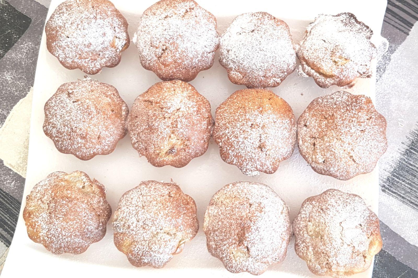 Muffins rhubarbe pommes