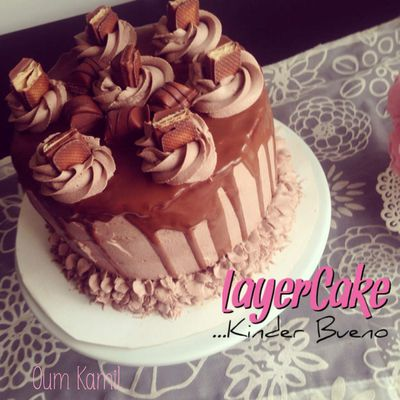 Layer Cake Kinder Bueno - Mon premier Layer cake