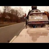Goldwing GL1500 driving with trailer