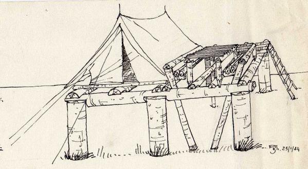 Nombreuses oeuvres destinées à la vie scoute et au travail du bois (froissartage).