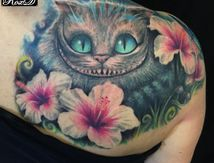 Chat d'Alice Tatouage