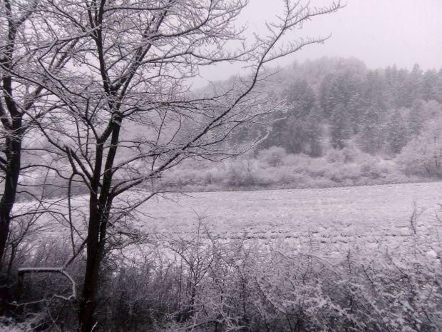 Barrême ce matin manteau neigeux