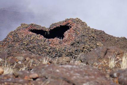 L'amour ❤️ est partout même sur le Massif du Piton de la Fournaise 🌋🇷🇪