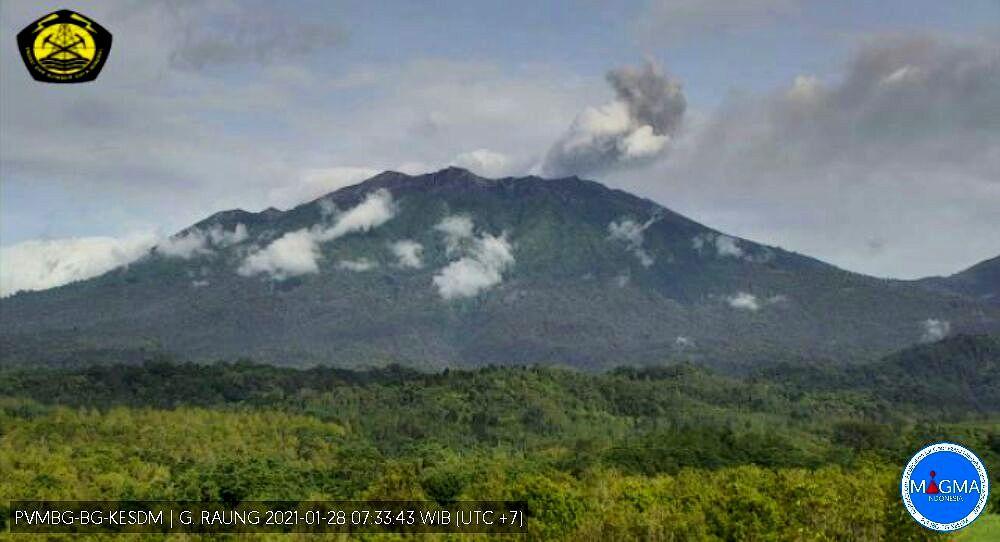 Raung - 28.01.2021 / 07h33 WIB - webcam PVMBG - Magma Indonesia