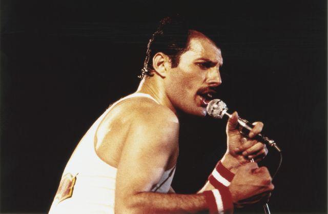 Freddie Mercury lors d'un concert au Milton Keynes National Bowl en 1982 © Getty / Graham Wiltshire