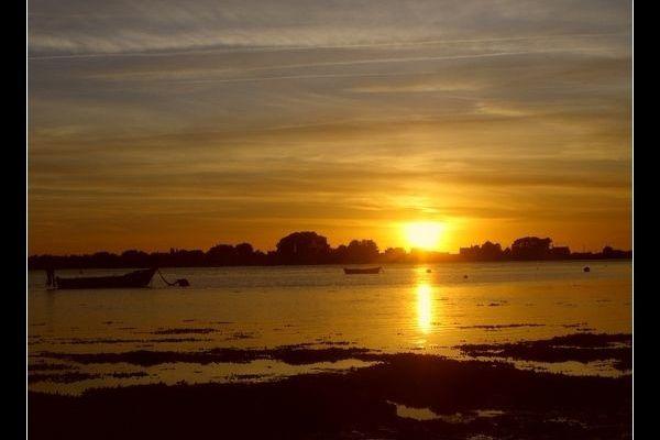 Morbihan 2008 : Coucher de soleil sur la Rivière de Pénerf