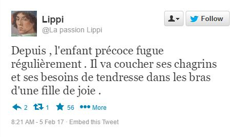 Détournement - La Passion Lippi sur Twitter