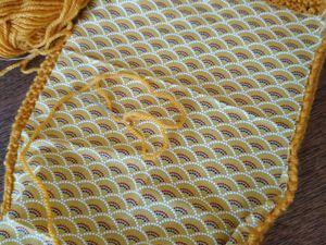 Pochette au tricot (suite)