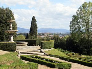 Jardins de la Villa CASTELLO et la Villa PETRAIA - Banlieue de FLORENCE - Toscane - Italie