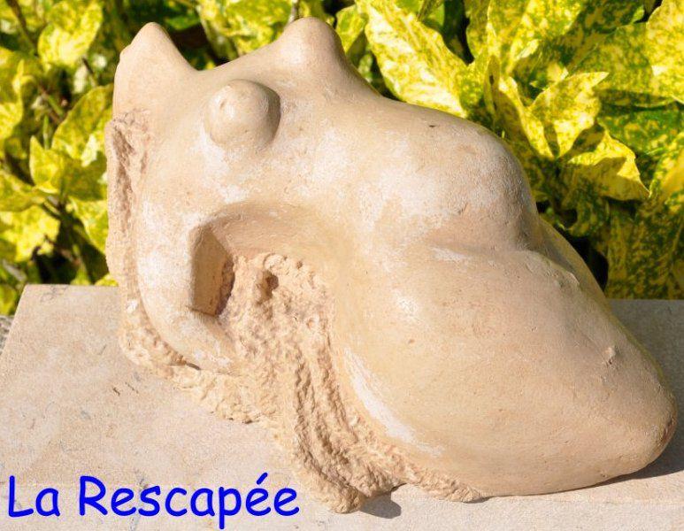 pierre subtilisée au nez des bulldozers pour la sculpter ensuite...