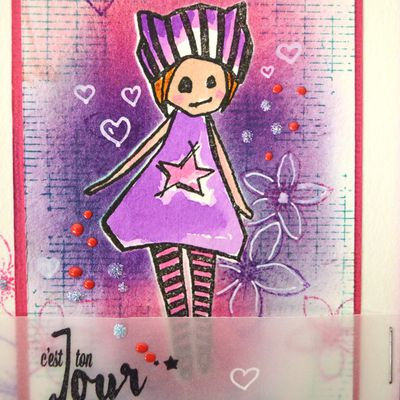 Lift de carte d'avril pour Scrap&Co