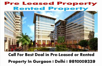 Rented Commercial Property Gurgaon    9810009339
