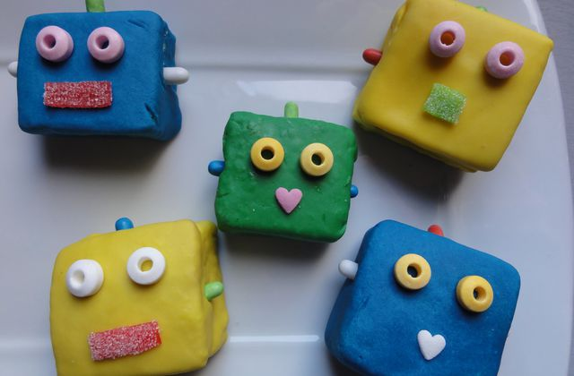 Petits robots d'inspiration Cake Pop !