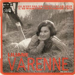 """liliane varenne, une chanteuse française des années 1960 qui se fit remarquer notamment avec """"ce n'est pas un adieu"""""""