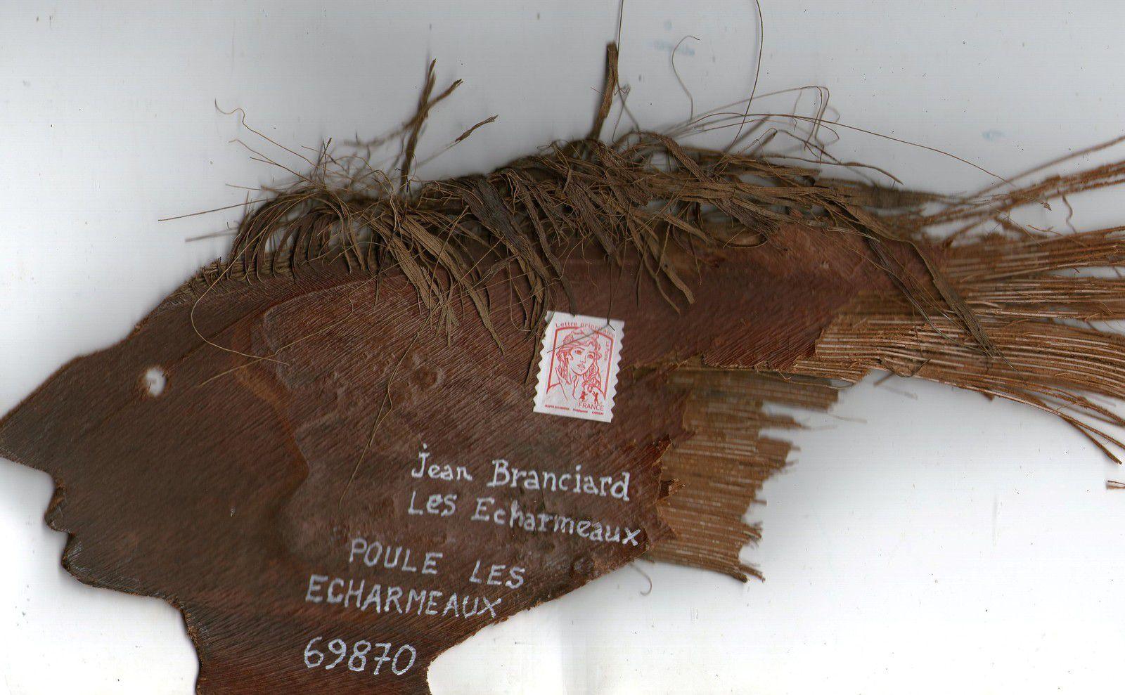 mon envoi à Jean Branciard