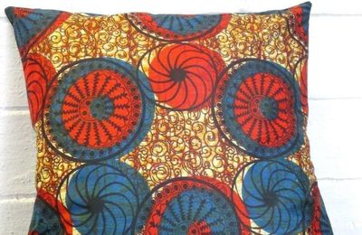 Coussin en pagne africain