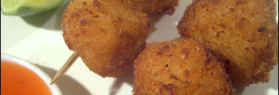 Boulettes de Crevettes frites à la Citronnelle (Yakitori)