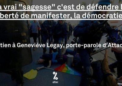 Soutien à notre camarade Geneviève Legay