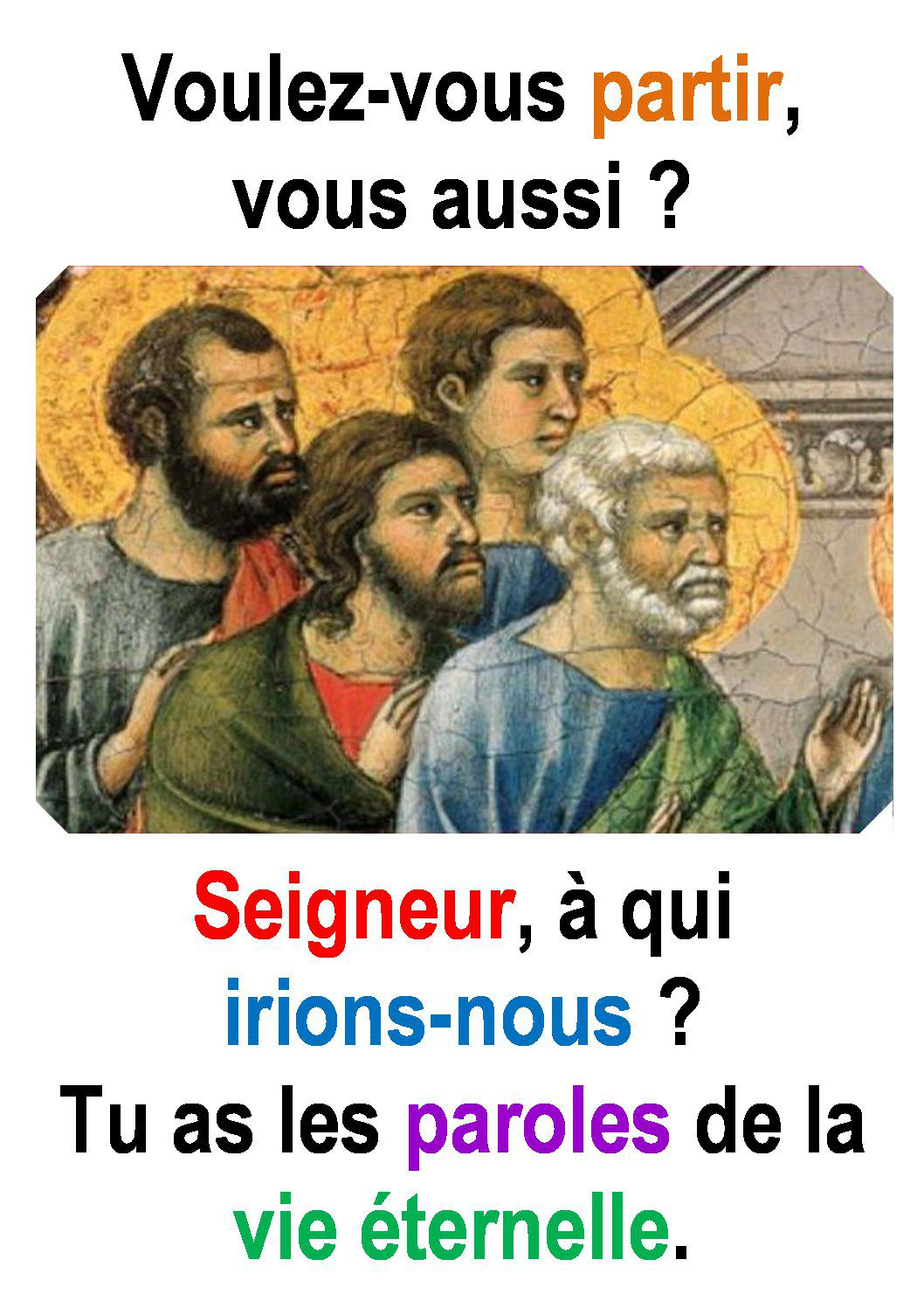 Evangile du 24 Avril « Tu as les paroles de la vie éternelle » (Jn 6, 60-69) #parti2zero #evangile