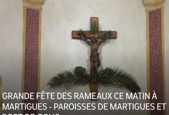 GRANDE FÊTE DES RAMEAUX CE MATIN À MARTIGUES